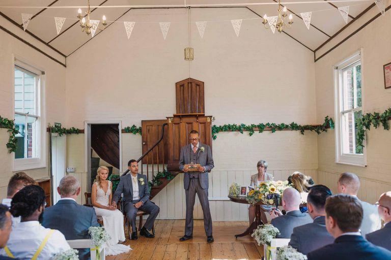 Sussex Chantry wedding ceremony reading