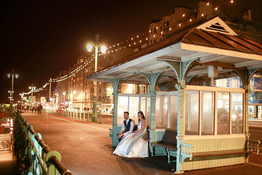 Bride-and-groom-Brighton-Seafront