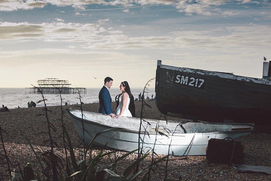 wedding-couple-brighton-beach