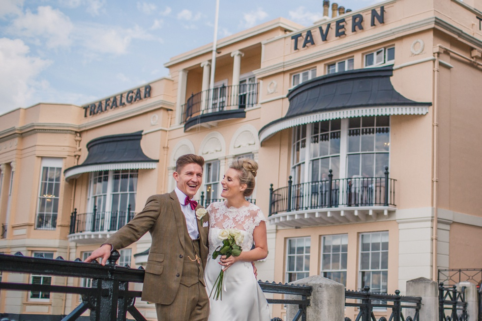 Alana's and Charlie's wedding at Our Lady Star of the seas and Trafalgar Tavern Greenwich