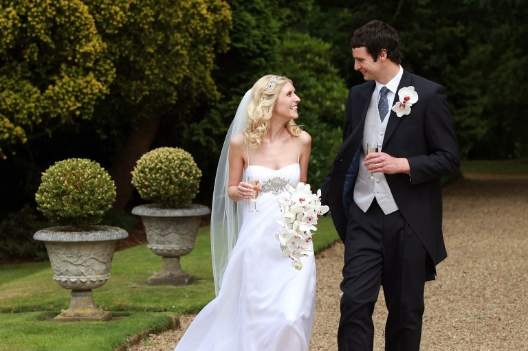 Wedding Couple arrive at Alexander House Hotel and Spa