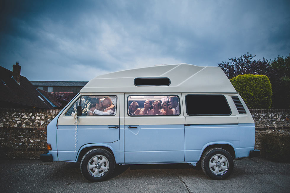 vw-camper-pangdean-barn-wedding