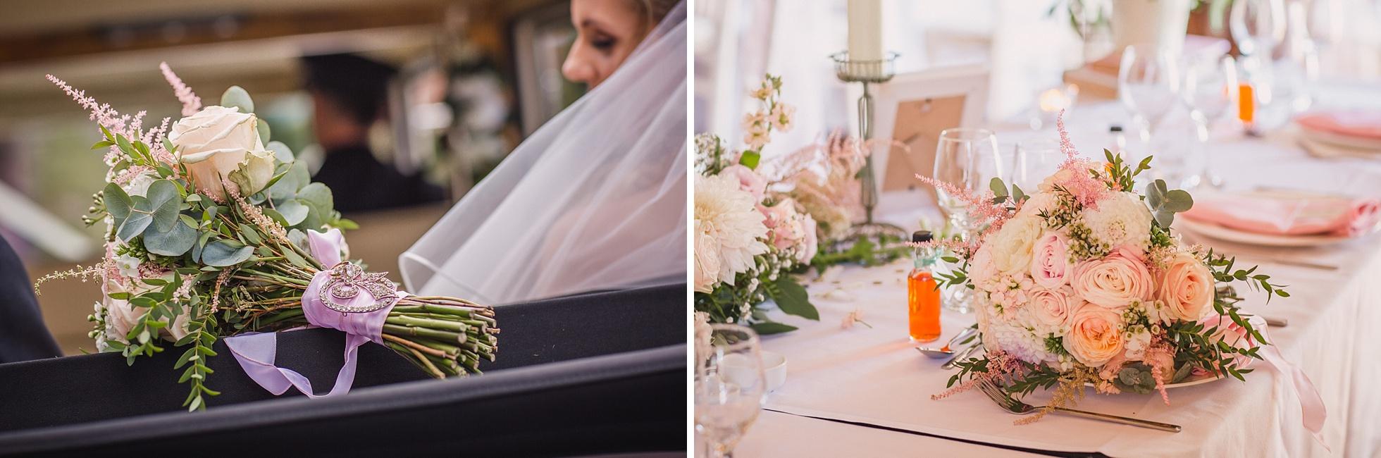 Holly's and Glenn's wedding ceremony at All Hallows Church Tillington and wedding reception at Grittenham Barn.