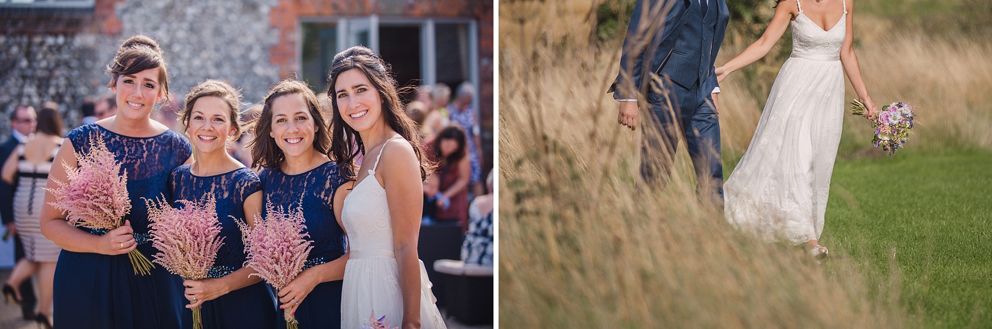 Laura and Matt's wedding at Farbridge Barns in West Sussex