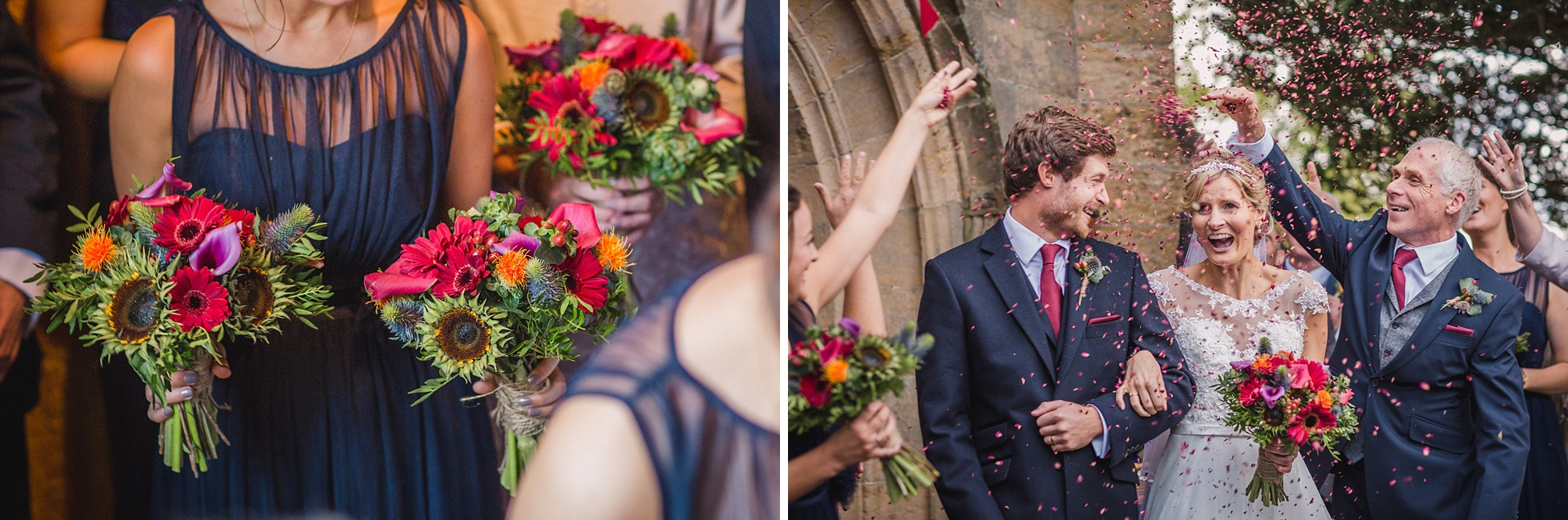 Wedding at All Hallows Church and Grittenham Barn for Steffi and Matt