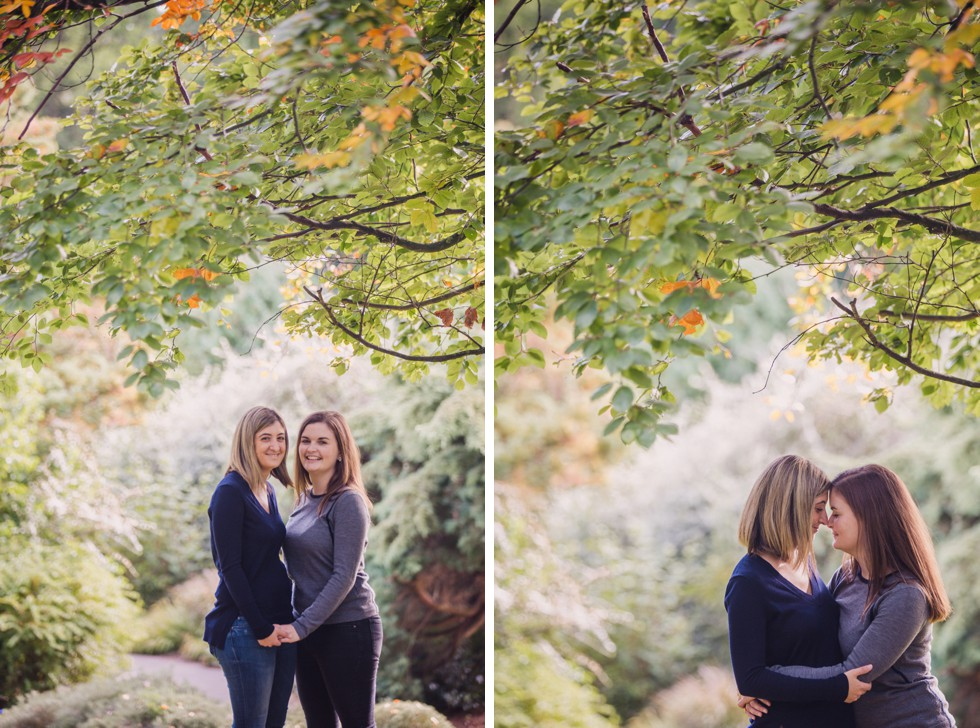 pre-wedding shoot at the Hampstead Hill Gardens and Pergola
