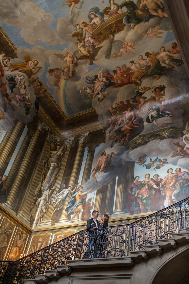 Couple on Kings Staircase at Hampton Court Palace