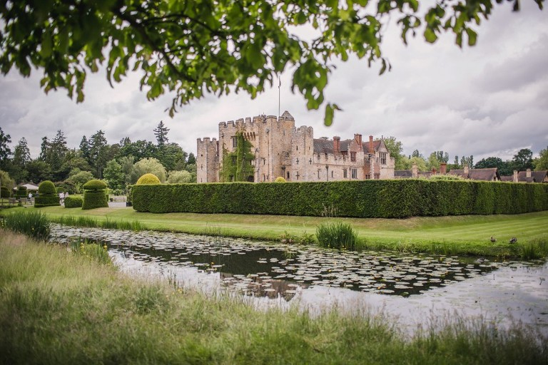 View of moat and Hever Castle