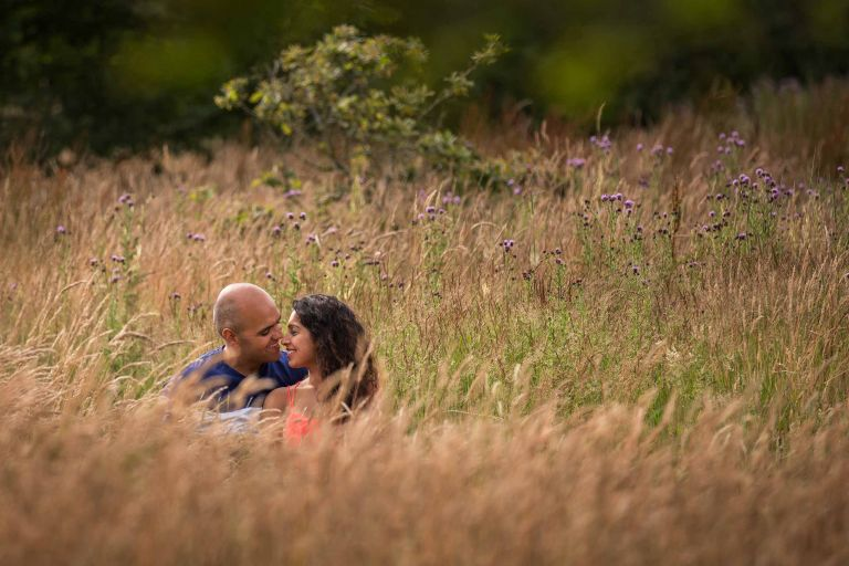 Engagement shoot at Mid Sussex Gold Course